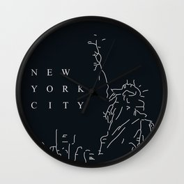 Minimal New York Poster Wall Clock