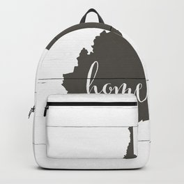West Virginia is Home - Charcoal on White Wood Backpack