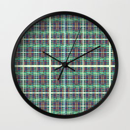 plaidish Wall Clock