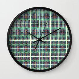 plaidish Wall Clock