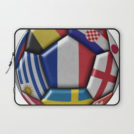 Russia 2018 - football ball with various flags Laptop Sleeve
