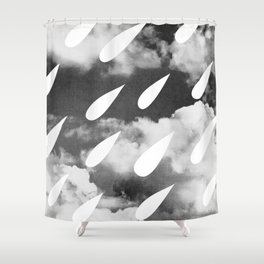 Storm Clouds + Droplets Shower Curtain