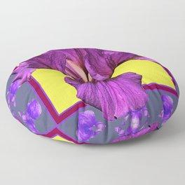 PURPLE IRIS  PATTERNS ART Floor Pillow