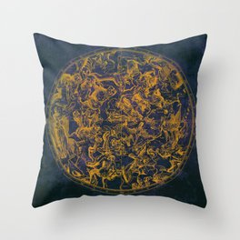 Vintage Constellations & Astrological Signs | Purple Galaxy Throw Pillow