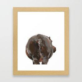 Hippo Butt Framed Art Print