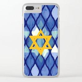 Jewish Celebration Clear iPhone Case