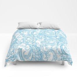 Paisley batik aqua Comforters