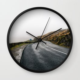 Misty Lonely Road Wall Clock