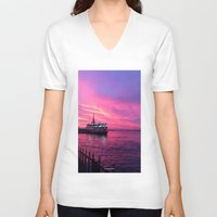 istanbul V-neck T-shirts featuring İSTANBUL by Şemsa Bilge (Semsa Fashion)