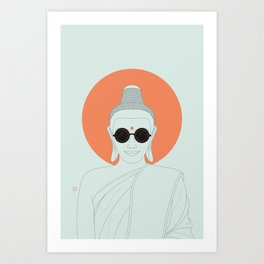 Buddha : Imagine Silence! Art Print