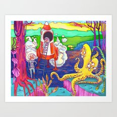 Space Pirates! Art Print