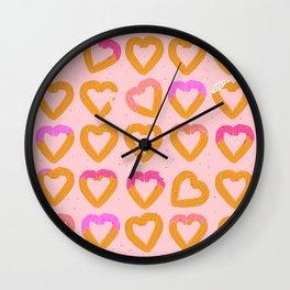 Churro Hearts Wall Clock