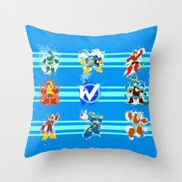 Robot Masters of Mega Man 2 Throw Pillow