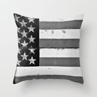 flag Throw Pillows featuring Flag by Keith Dotson