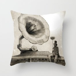 The Chimney Sweep (Monochrome) Throw Pillow