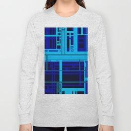 Blue Circuit Long Sleeve T-shirt