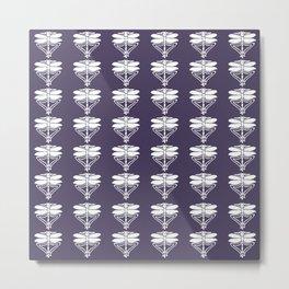 Meteorite Purple Arts and Crafts Dragonflies Metal Print