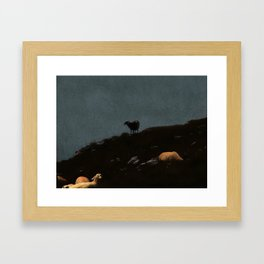 high abowe the troubled waters Framed Art Print