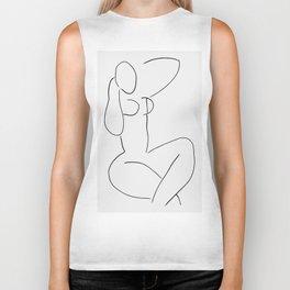 Matisse woman face print, matisse wall art, abstract woman print, Abstract vintage Print, eclectic a Biker Tank