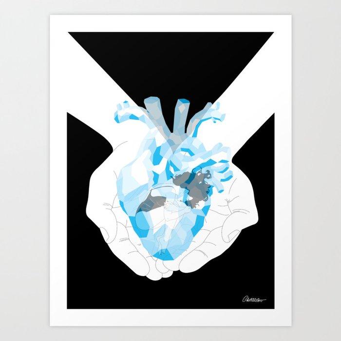Heart Of Glass Art Print