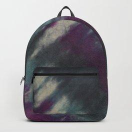 Tie Dye Purple Black Turquoise Backpack