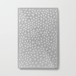 Connectivity - White on Grey Metal Print