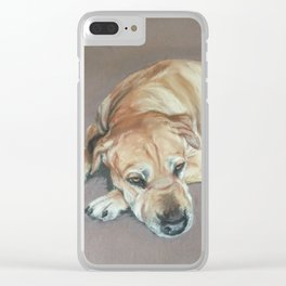 Dog Tired Clear iPhone Case