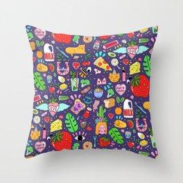 Kitsch Paradise Throw Pillow