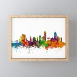 Boston Massachusetts Skyline Framed Mini Art Print