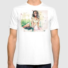 Tigerlily White Mens Fitted Tee MEDIUM