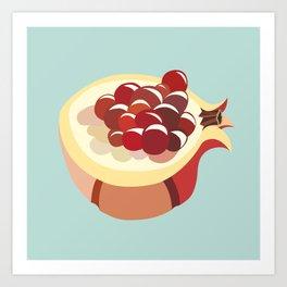 pomegranate fruit illustration Art Print