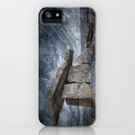 Poulnabrone Dolmen - Blue Winter Grunge iPhone Case