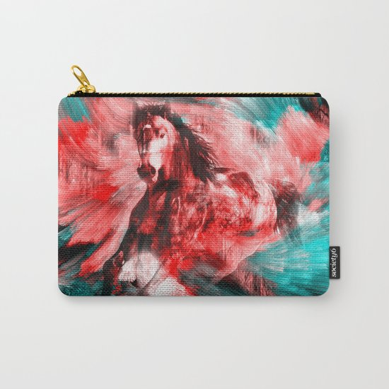Gold Horse Carry-All Pouch