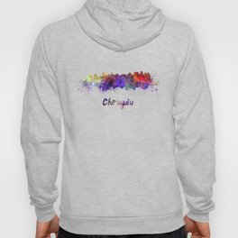 Lagos skyline in watercolor Hoody