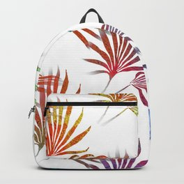 Palmetto Fronds Tropical Pattern Backpack