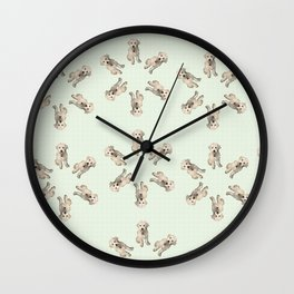 Oodles of Labradoodles Wall Clock