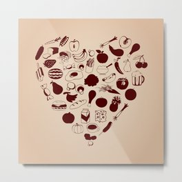 Heart from meal Metal Print