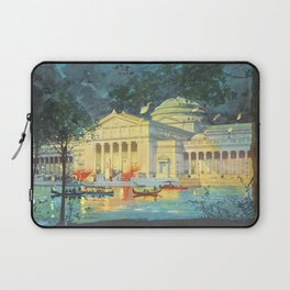 Lagoon at Night; Palace of Fine Arts in Chicago 1893 Laptop Sleeve