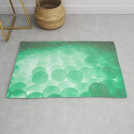 Green balls - Photography Art Rug