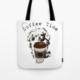 Pekingese Coffee Time VS6S Tote Bag