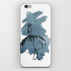 Retro Chic Runway Dress 2 Feminine Fashion Illustrations iPhone & iPod Skin