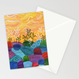 on and on fields Stationery Cards
