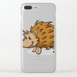Hedgehog cartoon. Clear iPhone Case