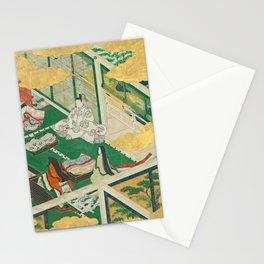 "Takumi Tosa, Genji Monogatari 鬘 ""Tama-an "" ""A Lovely Garland"" (Tamakazura) ,17th century Stationery Cards"