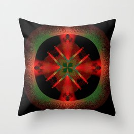 Spinning Wheel Hubcap in Scarlet Throw Pillow