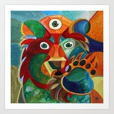 Three Eyed Bear Art Print
