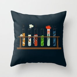 Science with Beaker Throw Pillow