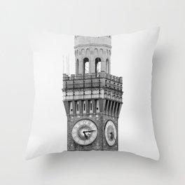 Bromo-Seltzer Tower B&W Throw Pillow