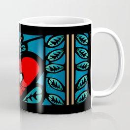 Apple Stained Glass Design Coffee Mug