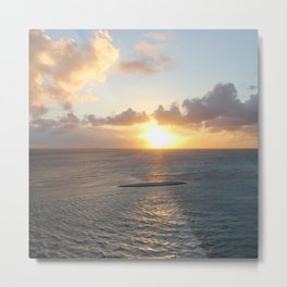 Aruba: Scenic Sunset over the Sea Metal Print
